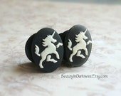 Unicorn Plugs for stretched ears, Sizes 1/2 inch, 00g, 0G, 2G, 4G , 6G, 4mm, 5mm, 6mm, 8mm, 10mm, 12.7mm, Also For Pierced Ears