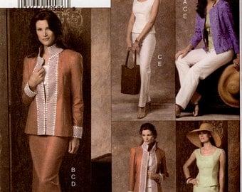 Vogue V8209 Misses'/Misses' Petite Jacket, Top, Skirt and Pants Sewing Pattern - Uncut - Size 8, 10, 12