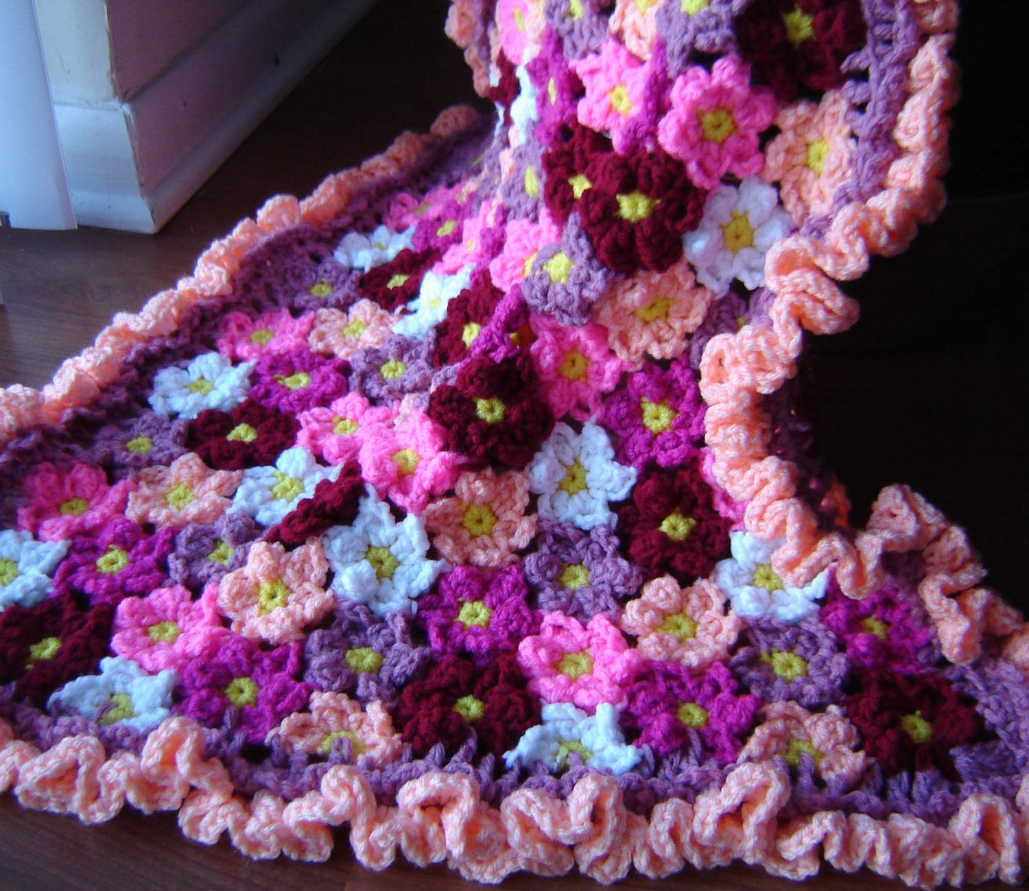 Crochet Flower Pattern Blanket : PDF Instant Download Crochet PATTERN No 272 Flower Baby