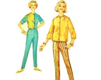 Vintage 1960s Mad Men Weekend Wardrobe Pattern Uncut Petite Size 14 Bust 34 Simplicity 4527
