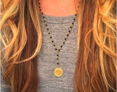 Rosary Style Beaded Love Necklaces - Amour, Je'T'aime 3 Styles Available