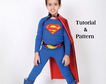 Items Similar To Kids Superman Costume Diy Costume Kit
