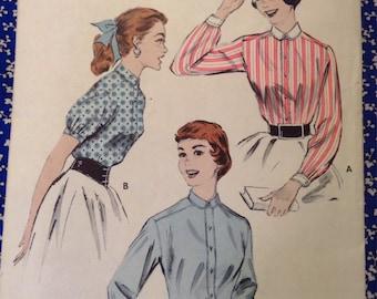 """5 BUCKS Butterick 7164 Man Tailored Shirt 1950s Sewing Pattern Bust 30"""""""