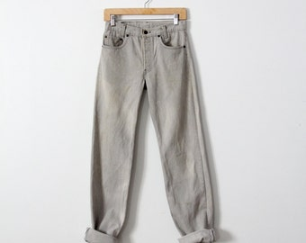 1980s Levi's grey jeans, waist 28