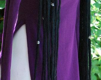Dread lock Hair Falls in Black (Extra Long)