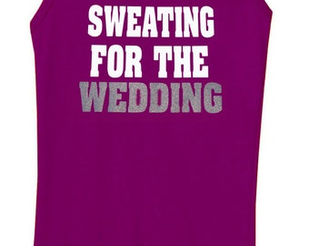 Sweating for the Wedding Tank Top Workout Shirt Currant Purple