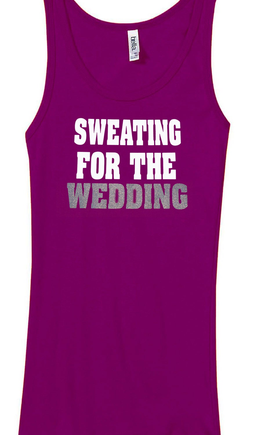 sweating for the wedding tank top workout shirt by