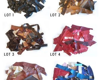 Recycled Genuine Leather Remnant Scraps