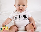 Ultimate Frisbee Baby Onesie, Walk Crawl Ultimate Frisbee Diaper Shirt