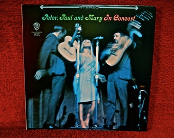 PETER, PAUL and MARY - In Concert - 1968 Vintage Vinyl 2 lp GATEfold Record Album