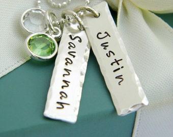 Personalized Necklace - Custom Name Jewelry - Personalized Mother's Jewelry - Mother's necklace - Birthstone Jewelry - Custom Name Jewelry -