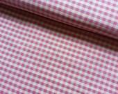 Gingham Japanese Fabric Cotton Yuwa - Gingham Pink - a yard