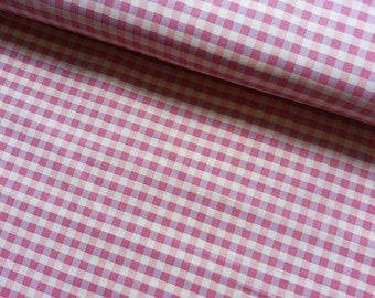 Gingham Japanese Fabric Cotton Yuwa - Gingham Pink - a yard