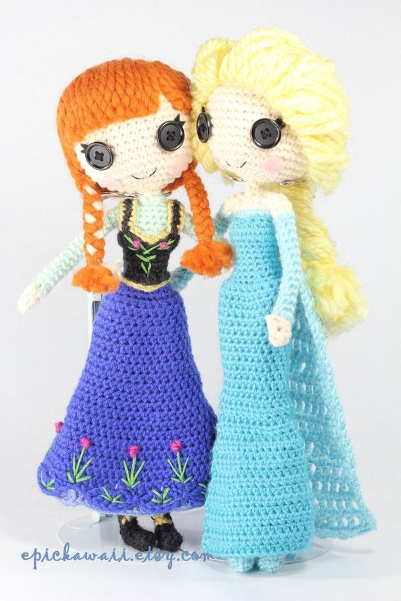 PATTERN 2-PACK: Anna and Elsa Frozen Crochet by epickawaii ...