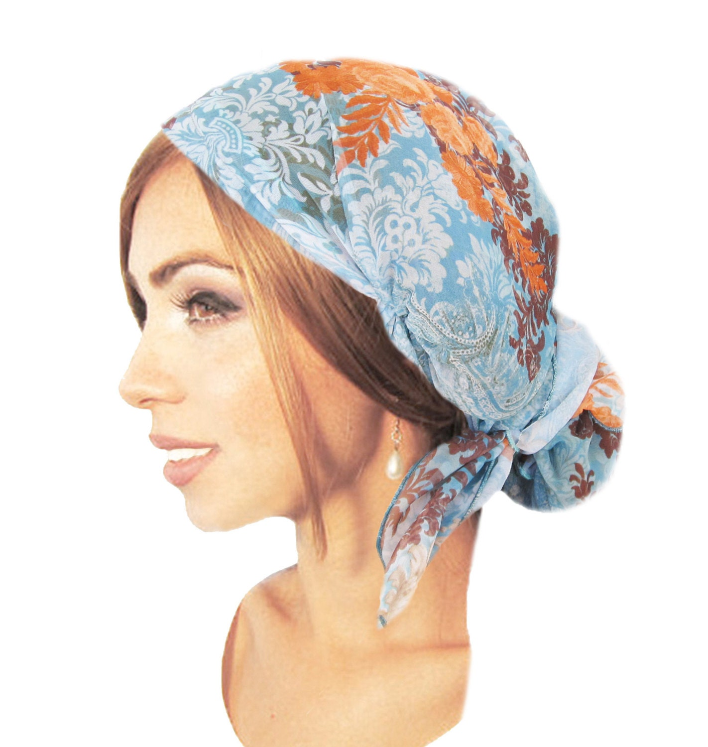hair snood tichel chemo hat chemo cap chemo scarf by