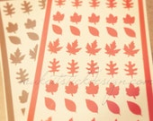 Fall Leaves Nail Decals / Stickers Set of 40 YOU PICK COLOR- Nail Vinyls
