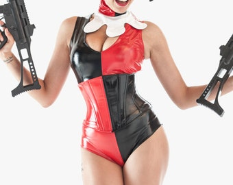 XS Harley Quinn PVC Jumpsuit from Artifice Clothing