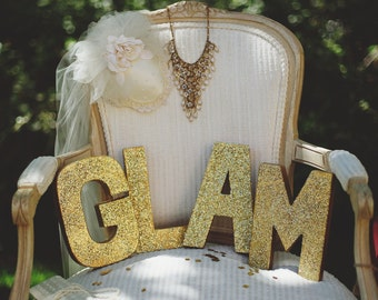 Sparkly Letters, Vintage Wedding, Party Supplies, Birthday Party, Event Decorations, Bridal Shower, Baby Shower, Birthday Decorations, Event
