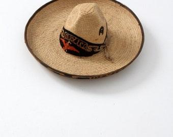 1950s sombrero, vintage Mexicana hat, southwest hacienda decor