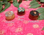 Individual Higher Chakra Orgonite - SoulStar Higher Heart or EarthStar - Choose Your Chakra -With Chakra Specific Herbs and Stones