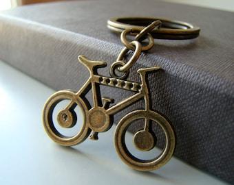 Bike Keychain - bronze tone keychain
