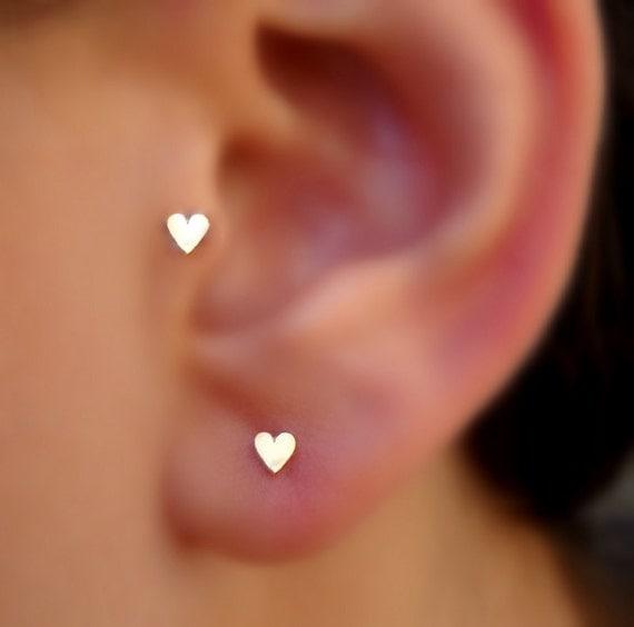 Tragus Earring Heart Tragus Earring Nose Ring Stud