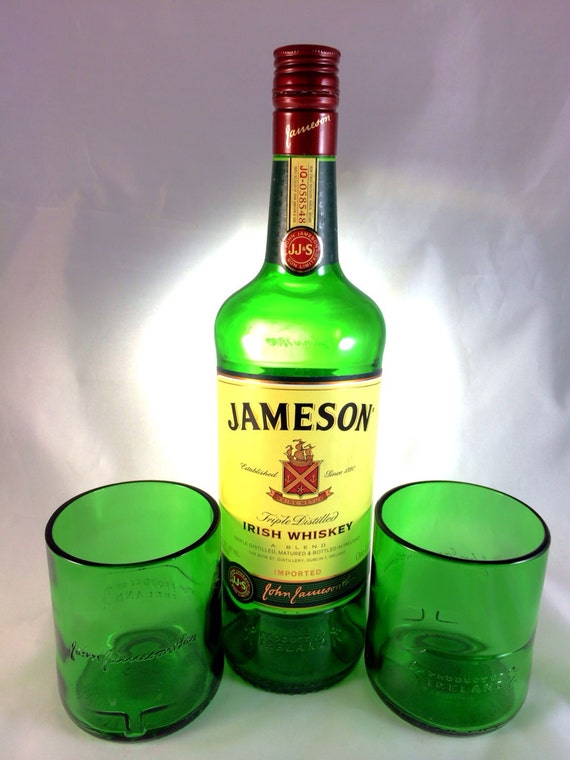 Jameson Irish Whiskey bottle Short Rocks Glass (Set of 2)