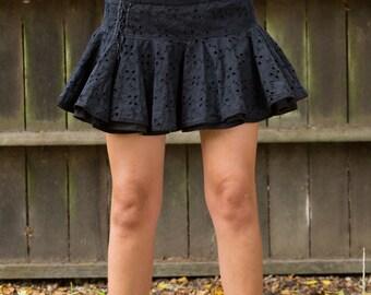 Black Skirt, Mini Skirt, Short Skirt, Ruffle Skirt, Circle Skirt, Skater Skirt, Cowgirl Skirt, Festival Skirt, Party Skirt, Bohemian Skirt