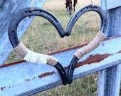Rustic Chic Wedding Heart Horseshoe Decoration Horseshoe Heart Good Luck Heart Horse Shoe Rustic Wedding Decor Barn Wedding Country Wedding