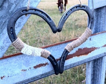 Rustic Chic Wedding Heart Horseshoe Decoration Horseshoe Heart Good Luck Heart Horse Shoe Rustic Wedding Decor Barn Wedding Country Wedding