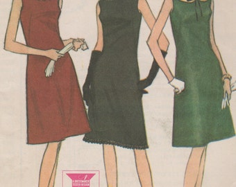Bust 31-1965 Misses' Dress McCall's 7961 Size 10