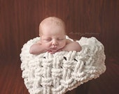 Crochet Pattern for Diagonal Weave Blanket layering photography prop - Any Size - Welcome to sell finished items