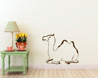 Desert Camel vinyl Wall DECAL-Egypt Middle East Morrocan Arabian interior design, sticker art, room, home and business decor