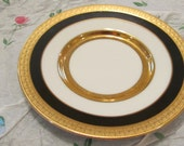 Dufex Art Plate - 24k Gold Trim with Black on White