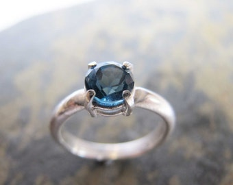 Size 9 ring- London Blue Topaz sterling silver ring.
