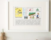 Vintage French Primary School Alphabet charts, Lesson 52