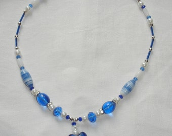 The Heart of The Sea glass beeded necklace.