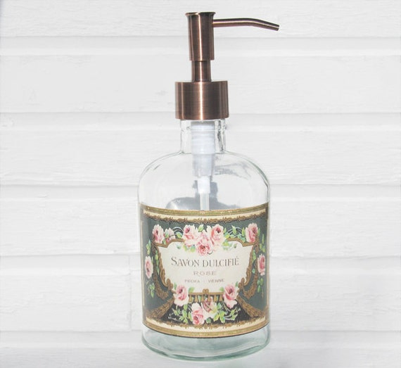 Soap Dispenser French Country Cottage Decor Bronze