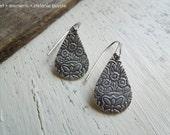 Trio Blossom - Earrings - Handmade - Fine SIlver - Sterling Silver