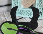 Maleficent horns and staff set - Glitter and Suede Dress Up Accessories