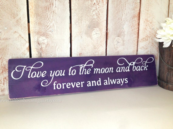 I Love You to the Moon and Back Forever and Always Sign