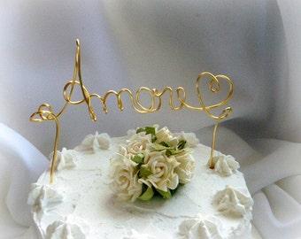 Amore Cake Topper, Wedding Decor