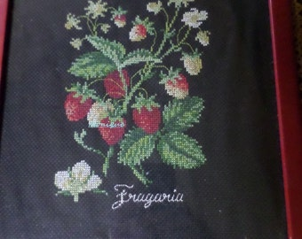 Found in France - Handmade Picture - Cross Stitch - Embroidery - Wall Hanging