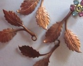 Vintage Left And Right  Brass  Leaf Branch  Stamping