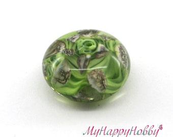Focal lampwork glass bead