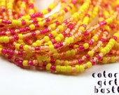 Traditional Waist Beads: Pink, Yellow and Orange