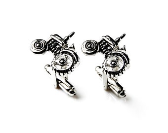Tractor Cufflinks - Groomsmen Gift - Men's Jewelry - Gift Box Included