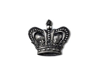 Crown Lapel Pin - Tie Tack - Valentine's Gift - Handmade - Gift Box Included