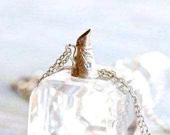 Tiny Pitcher Necklace - Sterling Silver Pendant on Chain - Miniature Water Jug