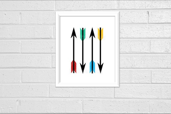 Arrow Art Minimal Wall Decor Print 8 x 10 Pdf Office Decor Printable Downloadable Print Your Own Modern